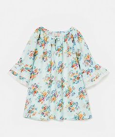 Floral print blouse Shirts Girl Junior (8-12 years) | Tunics Girl Junior (8-12 years) | LANIDOR.COM - Mobile Shop Online