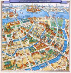 Карта достопримечательностей Санкт-Петербурга.Интерактивная карта