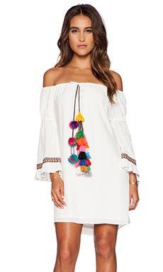 T-Bags LosAngeles Tulum Dress in Ivory