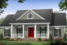 Same house but with no attached garage House Plan 21-354