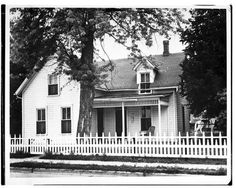 This black and white photograph shows Walter P. Chrysler's boyhood home in Ellis, Kansas.