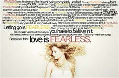 reason for the fearless tattoo. <3