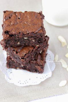 Brownies de chocolate libres de gluten