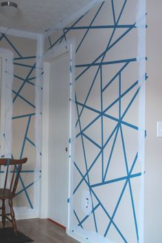 DIY Painters Tape Accent Wall 1