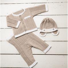 """""""Alva"""" Jakke, bukser og hue - Viking Design 1608-4B Kit - 1-24 Mdr. - Viking Bambino Leg Warmers, Adidas Sneakers, Pose, Beige, Shorts, Children, Fashion, Threading, Breien"""