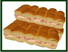 ****ETA : make spread in advance and let chill for at least one hour or it will run off your rolls. I learned this the hard way  ****  Makes aprox. 18 finger size sandwiches.  INGREDIENTS:  2- 4 oz cans of deviled ham (or 1/2 pound of chopped bolied ham) 1- 8 oz pack of regular cream cheese 1- 4 oz can of red pimentos( well drained) 3/4 Cup of regular mayonnaise Bread for Cuban Bocaditos.