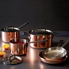 Tri-Ply Copper Cookware 8- Piece Set | West Elm