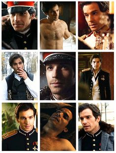 Oh this movie is totally going on my to-do list... Santiago Cabrera in Anna Karénina (2013) (I didn't really like Kira Knightley's version, but this one shows promise :)