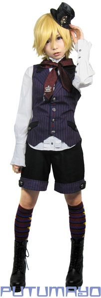 A full coord with the vest, it goes really well with the long socks and red tie