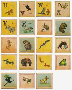 Alfabetário Vintage para  Ensino Domiciliar Idiomas - Alphabet