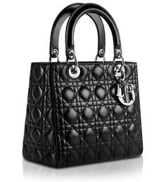 1b94fc3ff63f Item  handbag Type  Lady Dior bag Brand  Christian Dior Color  Black with  silver hardware Material  lambskin or patent leather Size  medium cm) Price