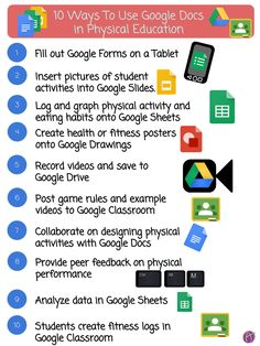 10 Ways to Use Google Docs in Physical Education