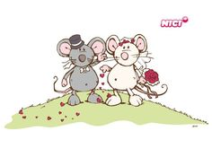 Wandtattoo Mäusepärchen