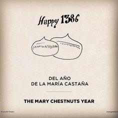 La Castañada se celebra como mínimo desde el año de la María Castaña. #castañada2013 #castanyada2013 #agenciapublicidad #creatividad #ilustracion #gruetzi #fromlosttotheriver #thehappiestadvertisingagencyintheworld #barcelona