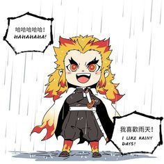 Demon Slayer( Kimetsu No Yaiba) Photo+memes - Hashira in rain - Wattpad Otaku Anime, Manga Anime, Chibi Anime, Kawaii Chibi, Cute Chibi, Anime Demon, Demon Slayer, Slayer Anime, Dark Fantasy