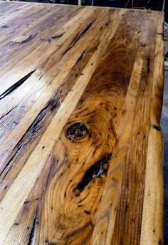 Wormy chestnut, a reclaimed lumber, radiates antique rustic charm. But while the country look is unique and on-trend, this type of wood is soft compared to the others and best avoided when it comes to butcher block.