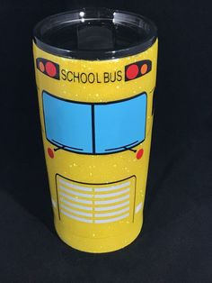 Excited to share this item from my shop: Custom 20 oz Glitter School Bus Tumbler Diy Tumblers, Personalized Tumblers, Glitter Tumblers, Glitter Projects, Diy Projects, Cup Crafts, Diy And Crafts, Tasse Thermos, Bus Driver Gifts