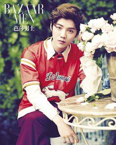 Boys over flowers? #Luhan for Harper's Bazaar Men July 2016 issue #LuhanBazaar…