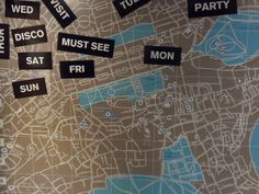 Map of Edinburgh on wall of bedroom at the Grassmarket Hotel Edinburgh | Europe a la Carte Travel Blog
