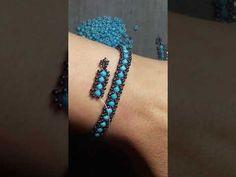 Yapımı çok kolay şık bir Bileklik😍 Beaded Jewelry Designs, Bead Jewellery, Bracelet Designs, Diy Beaded Rings, Beaded Earrings, Beaded Bracelets, Beading Tutorials, Beading Patterns, Bracelet Making