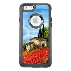 #country - #POPPIES IN TUSCANY / Landscape with Flower Fields OtterBox iPhone 6/6s Case