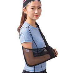 Free shipping Medical Mesh Arm Sling Support Brace Strap ,Lightweight, easy to use,Breathable, fashionable