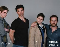 Supernatural - Richard Speight Jr. and Matt Cohen - Angel Family pic Lucifer, Michael, Castiel, Gabriel (from the left)