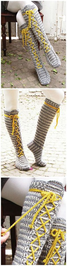 Crochet pattern - I'd love to make and wear these! Cute with little boots and a mini skirt.