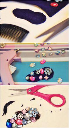 DIY: štýlové hrebienky do vlasov - KAMzaKRÁSOU.sk #kamzakrasou #krasa #tutorial #beauty #diy #health #hair #hairstyle #uces