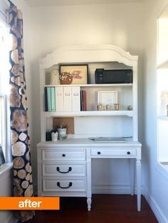 Before & After: A Dated Desk Gets a Fresh, Clean Look