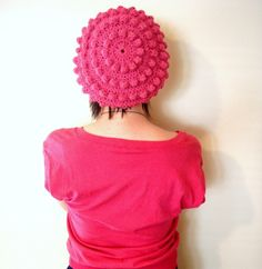 Items similar to Softspoken Bubble Beret in Pink on Etsy