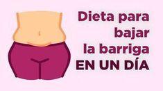 CON ESTA INCREÍBLE DIETA PODRÁS BAJAR LA BARRIGA EN UN SOLO DÍA y no es muy complicada. Así que anímate a perder peso rápidamente.