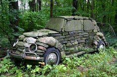Stone Volkswagen bug.