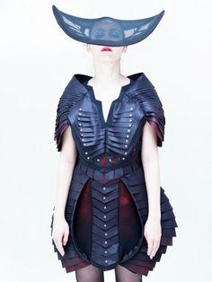 NEW!! VOGUE掲載ブランド ●JACOB BIRGE●  SYMMETRIC STRATEGY PANEL DRESS 1