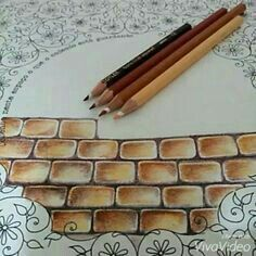 how to colour stone wall color pencils Colored Pencil Tutorial, Colored Pencil Techniques, Colouring Techniques, Drawing Techniques, Copics, Prismacolor, Coloring Tips, Adult Coloring, Coloring Books