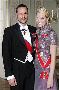 Crown Princess Mette-Marit wore this tiara for an official photo circa 2004.