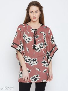 Tops & Tunics Women's Printed Pink Crepe Top  *Fabric* Crepe  *Sleeves* Sleeves Are Included  *Size* S- 36 in, M- 38 in, L- 40 in, XL- 42 in, XXL- 44 in  *Length* Up to 30 in  *Type* Stitched  *Description* It Has 1 Piece of Women's Tunic  *Work* Printed  *Sizes Available* S, M, XXL *    Catalog Name: Women's Crepe Tops & Tunics CatalogID_129500 C79-SC1020 Code: 024-1060874-