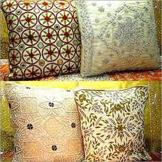 Beaded Pillows