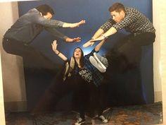 Misha and Jensen photo op