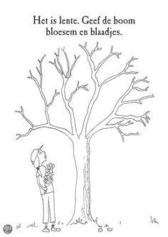 Opdracht kleur de boom in en laat 'm groeien