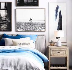 Beach Coastal Style Bedroom Decor Ideas – House Decor Tips Bedroom Themes, Bedroom Decor, Surf Theme Bedrooms, Bedroom Ideas, Bedroom Beach, Teenage Beach Bedroom, Teen Beach Room, Master Bedroom, Teenage Room