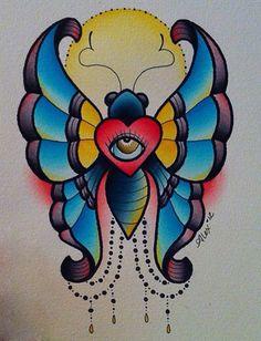 butterfly tattoo A