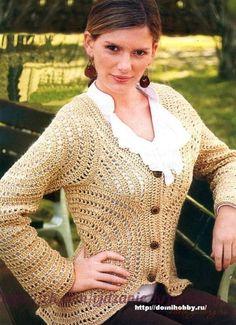 Delicadezas en crochet Gabriela: Chaqueta de motivos