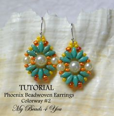 PDF Beadwoven Tutorial pendientes SuperDuo Tutorial por mybeads4you                                                                                                                                                                                 Más