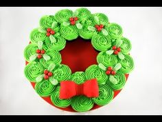 Video Tutorial -  CHRISTMAS CUPCAKE CAKE! Pull-Apart Wreath Cake - A Cupcake Addiction How To Tutorial - addiction, cake, christmas, cupcake, PullApart, tutorial, video, wreath