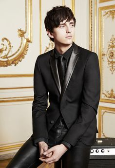 The Kooples | FW13 | black leather | suit | style | men