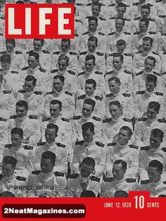 Life Magazine June 1939 : Cover - 1938 graduating class at Annapolis, Naval Academy.