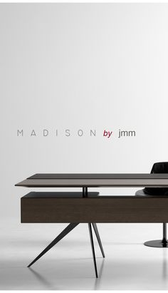madison by jmm LiKE bY بِسْمِ اللهِ الرَّحْمٰنِ الر Ù … – Tables and desk ideas Modern Office Table, Cool Office Desk, Office Table Design, Modern Office Design, Modern Desk, Office Decor, Home Office, Table Furniture, Office Furniture