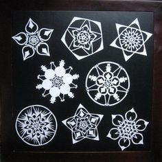 Snowflakes by Daniel Johansen Paper Snowflakes, Crystals, Create, Christmas, Design, Paper, Crafting, Xmas, Navidad