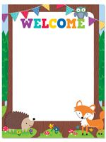 Welcome Chart - Woodland Friends - Classroom Display Poster - Teacher Resource in Home, Furniture & DIY, Stationery & School Equipment, Classroom & Teaching Supplies Forest Classroom, Preschool Classroom, Classroom Displays, Classroom Themes, Classroom Secrets, Friendly Fox, Welcome Students, Birthday Charts, Creative Teaching Press